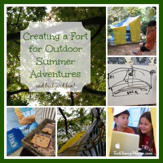 Creating a Fort for Outdoor Summer Adventures and Backyard Fun #EarthtoEcho