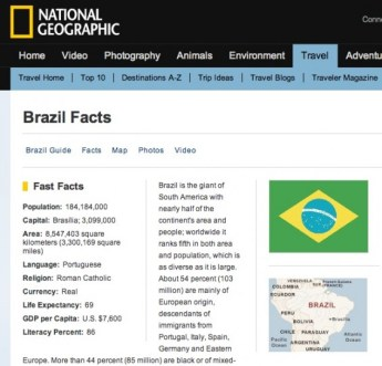National Geographic Brazil Facts