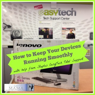 Staples EasyTech Total Support Keeps Devices Running Smoothly #EasyTechTS