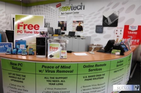 Staples EasyTech Total Support In-Store Counter