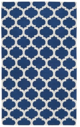 Surya Frontier Mediterranean Blue/Winter White Rug on Wayfair.com