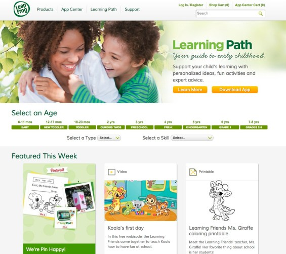 Leapfrog Learning Path Home Page