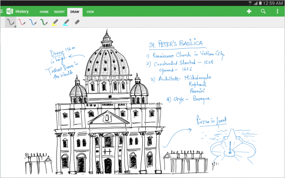 OneNote Handwriting Feature