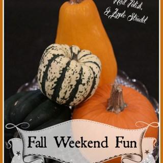 Fall Weekend Fun: FrankenPets, Glow in the Dark Polish, and Apple Strudel