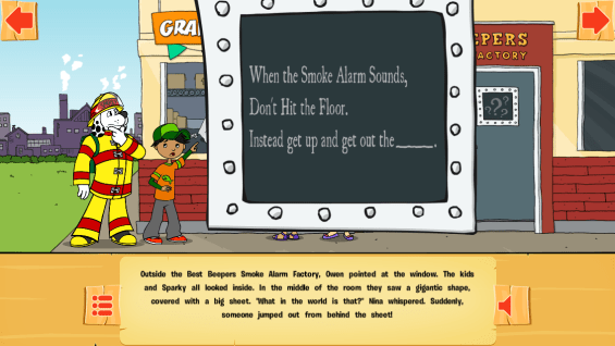 The Case of the Missing Smoke Alarms App - Interactive Elements