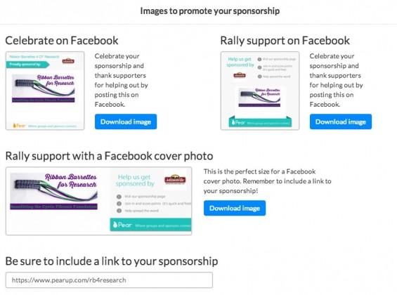 Pear generated logos for social sharing