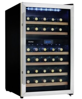 Nine Essentials for Holiday Entertaining from HH Gregg: Danby Stainless Steel 38 Bottle Wine Cellar