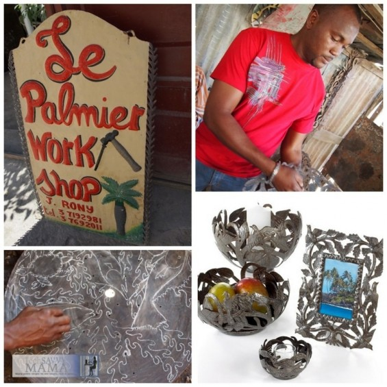 Rony Jacques, metalwork artisan for Macy's Heart of Haiti collection