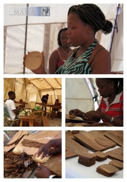 Yvette Celestin, Tobacco Leaf Artist for Macy's Heart of Haiti collection
