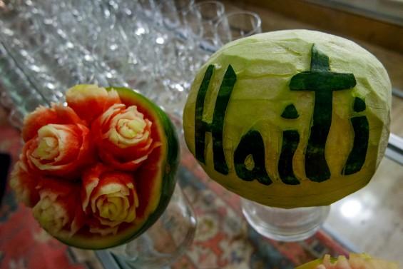 Macy's Heart of Haiti 5th Anniversary Celebration Carved Waterme