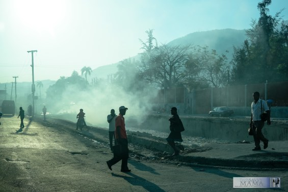 Silhouettes in Port au Prince, Haiti
