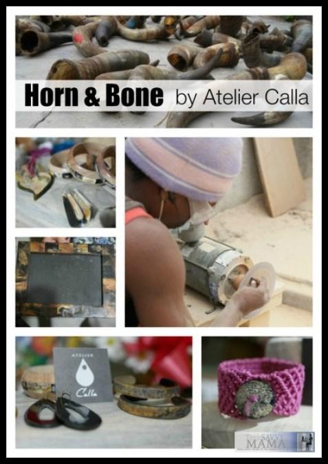 Horn and Bone Pieces by Atelier Calla, Port au Prince, Haiti