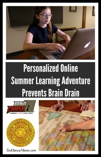 Brain Chase: Personalized Online Summer Learning Adventure Prevents Brain Drain for Ages 8-14
