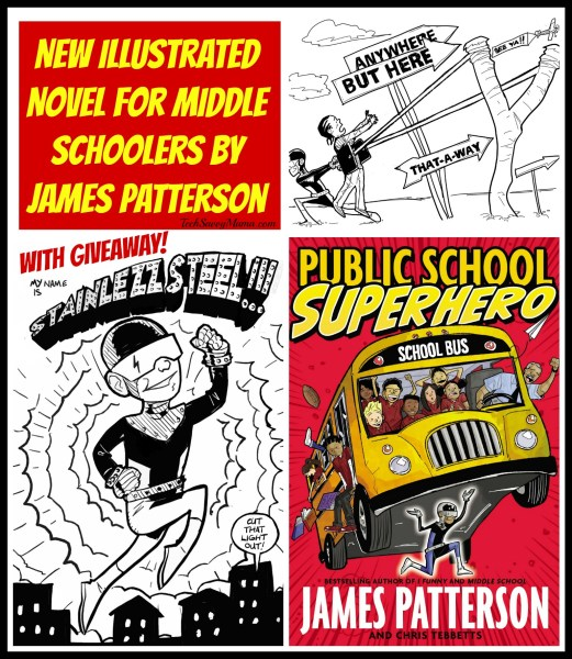Public School Superhero New Illustrated Novel for Middle Schoolers by James Patterson
