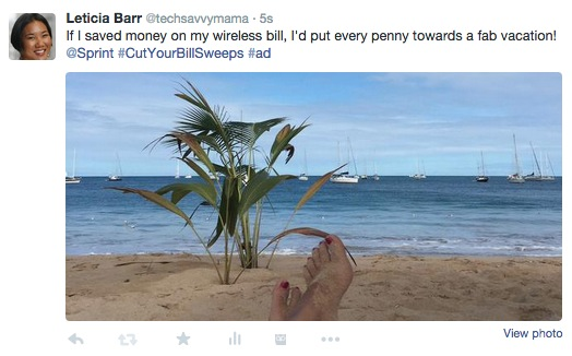 Leticia Barr #CutYourBillSweeps sweepstakes example
