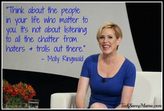 """Think about the people in your life who matter to you. Molly Ringwald quote"