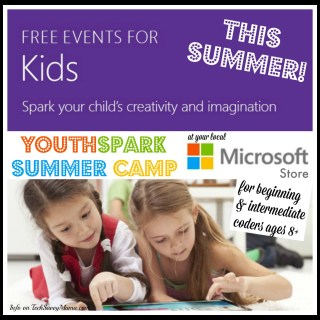 Free Microsoft YouthSpark Summer Camp for Beginning and Experienced Coders at Microsoft Stores Near You