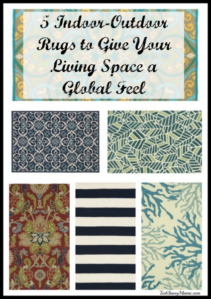 5 Indoor-Outdoor Rugs from Wayfair to Give Your Living Space a Global Feel. Details on TechSavvyMama.com