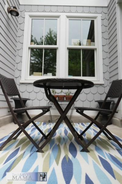 Adding a pop of color to your outdoor living space with products from Wayfair.com. See the changes to Leticia's patio on TechSavvyMama.com