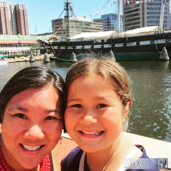 Leticia Barr from TechSavvyMama.com and daughter, Emily, in Baltimore ©2015 TechSavvyMama.com All Rights Reserved