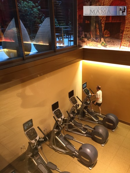 Traveling to NYC? Why Your Family Should Stay at Homewood Suites New York/Midtown Manhattan Times Square - beautiful exercise facilities with natural light. Full review on TechSavvyMama.com