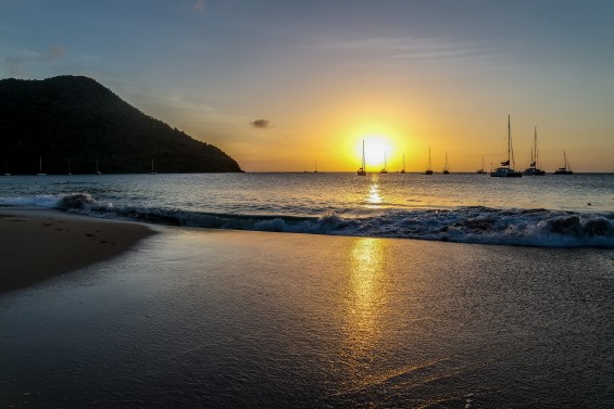 A glorious sunset at Rodney Bay Beach in St. Lucia © 2015, Leticia Barr All Rights Reserved