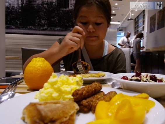 Traveling to NYC? Why Your Family Should Stay at Homewood Suites New York/Midtown Manhattan Times Square . Free breakfast we enjoyed with more details on TechSavvyMama.com