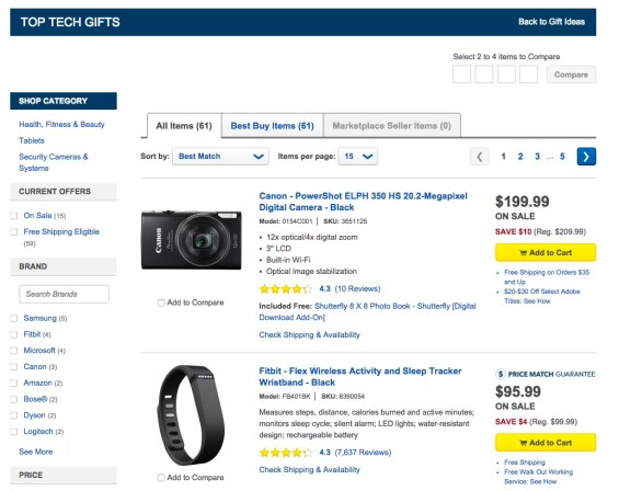 Best Buy Gift Ideas Page: Top Tech Gifts