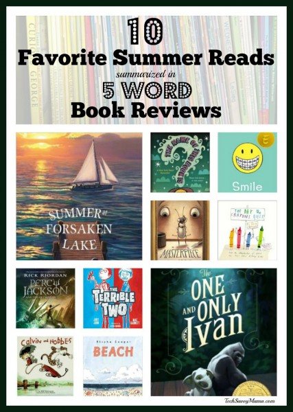 5 Word Book Reviews for 10 Favorite Summer Reads. More #SummerReading tips on TechSavvyMama.com