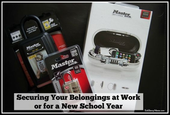 Securing Your Belongings at Work or for a New School Year #LSSS