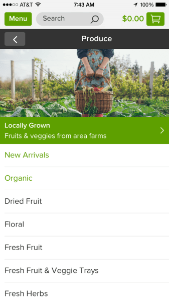 Peapod produce. More info on this newly redesigned Peapod app on TechSavvyMama.com