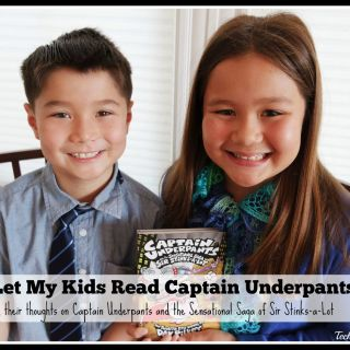 Why I Let My Kids Read Captain Underpants Books and Their Thoughts on Captain Underpants and the Sensational Saga of Sir Stinks-a-Lot #PilkeyPower