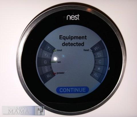 Setting up Nest: Equipment Detected © 2015 Leticia Barr TechSavvyMama.com