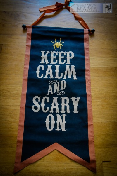 Keep calm and scary on Halloween banner © 2015, Leticia Barr All Rights Reserved