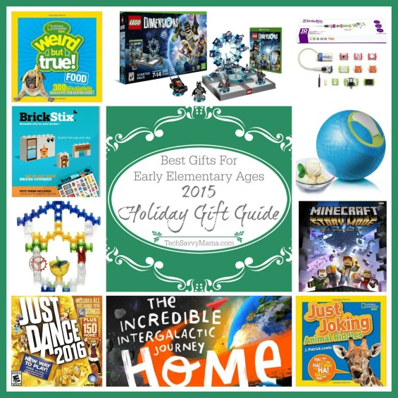 2015 Holiday Gift Guide: The Best Gifts for Early Elementary Ages (ages 5-8 or grades K-2) on TechSavvyMama.com
