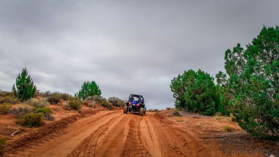 UTV on a dirt road at the Vermillion Cliffs en route to Paria Canyon in Northern Arizona. © 2015, Leticia Barr All Rights Reserved