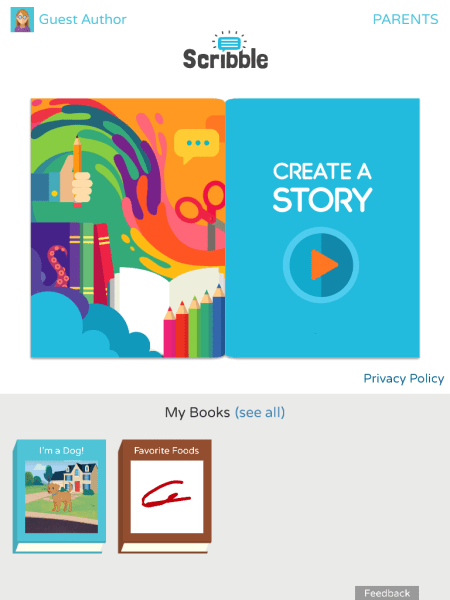 Scribble by Fingerprint Makes Creative Storytelling Easy for Ages 6-8. Review on TechSavvyMama.com