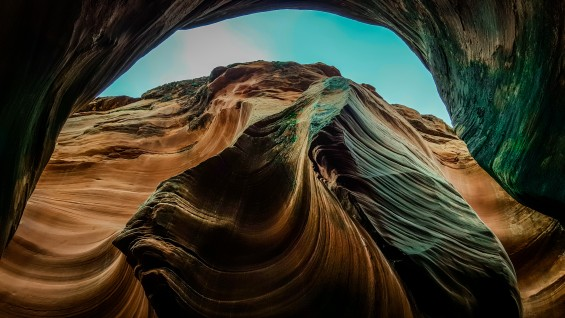 In some spots, the Slot Canyons measure less than a yard across the top but drop 100+ feet to the canyon floor © 2015, Leticia Barr All Rights Reserved