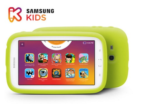 Samsung Galaxy Tab 3 Lite with Samsung Kids featured on TechSavvyMama.com's 2015 Best Gifts for Preschoolers