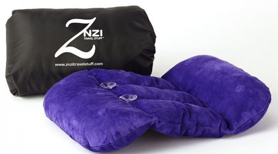Znzi Travel Pillow featured in TechSavvyMama.com's Valentine's Day Gift Guide