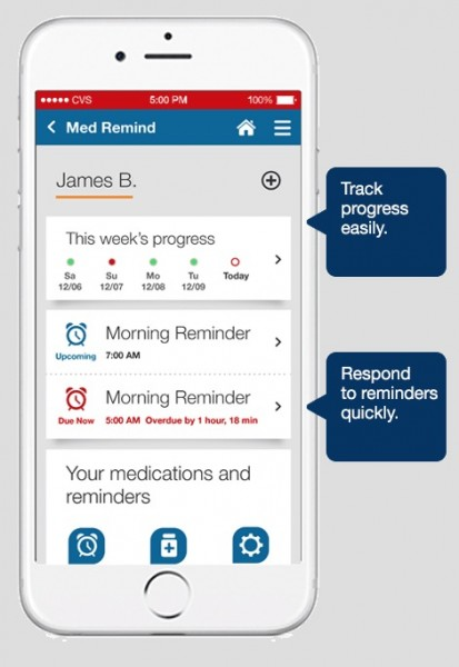 5 Reasons Why the CVS Pharmacy App Makes Caring for Sick Kids Easier- Set medicine reminders. More info on TechSavvyMama.com