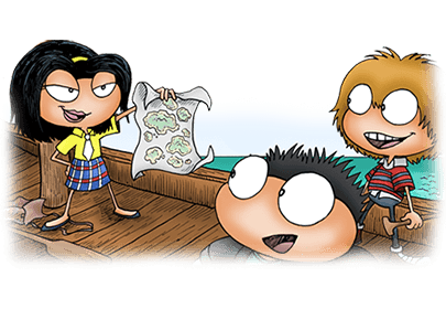 Poptropica: Mystery of the Map. Review and giveaway on TechSavvyMama.com. Image courtesy of Amulet Books