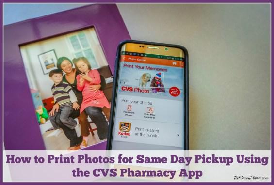 How to Print Photos for Same Day Pickup Using the CVS Pharmacy App. Details on TechSavvyMama.com #MyCVSApp