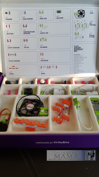 littleBits STEAM Student Set includes Everything a Teacher Needs for Hands-On STEAM Learning in a Box. Details on TechSavvyMama.com