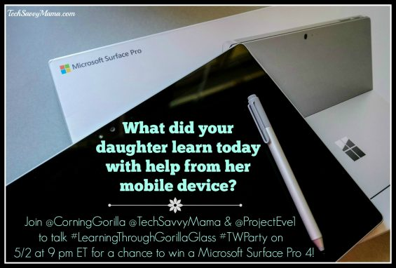 Corning Gorilla #LearningThroughGorillaGlass Twitter Chat 5/2 at 9 pm ET