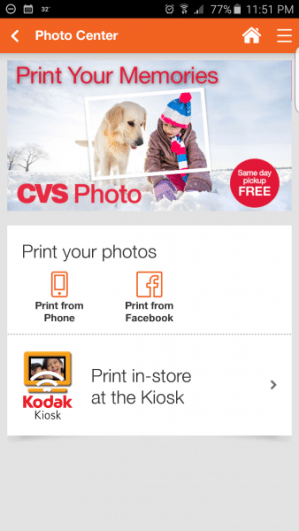 how to print photos for same day pickup using the cvs