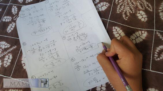 Math Homework ©2016 Leticia Barr, TechSavvyMama.com