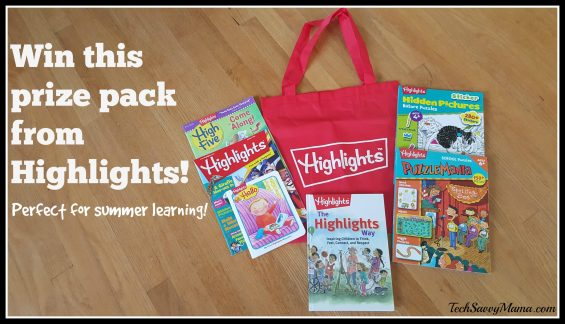 Win this prize pack from Highlights on TechSavvyMama.com #HighlightsEveryDay