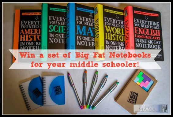 Win a set of Big Fat Notebooks for your middle schooler on TechSavvyMama.com