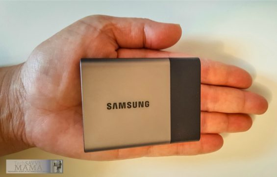 Samsung Portable SSD T3 Fits in Palm of Your Hand. Information about portable SSDs and why you need them on TechSavvyMama.com